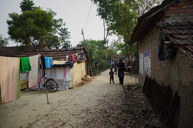 インドの道路にて撮影